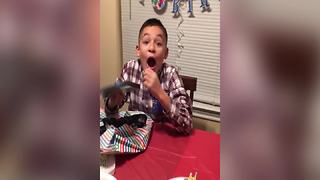 """Boy Gets Surprised with A Birthday Present"""