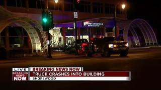 Vehicle Crashes Into Building in Shorewood - Video
