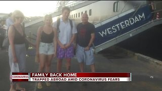 Family back home in Michigan after trapped abroad amid coronavirus fears