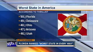 'Thrillist' says Florida is the worst state - Video