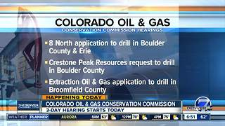 Colorado Oil & Gas Commission meeting - Video