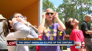 Calusa Nature Center host more than 500 for eclipse - Video