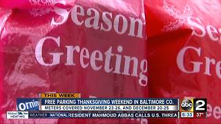 Baltimore County offering free parking for holiday shopping - Video