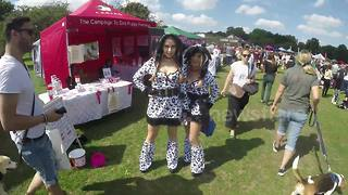 Celeb nutritionist Gillian McKeith and daughter dress as dogs for charity