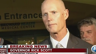 Governor Rick Scott addresses the media on Fort Lauderdale Hollywood International Airport shooting - Video