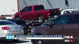 Witness recalls truck involved in hit-and-run