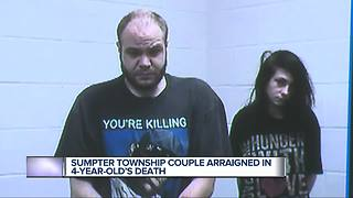 Couple arraigned in 4-year-old's death