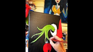Really fast Grinch painting