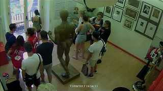 Security Camera at Barcelona's Erotic Museum Captures Moment of Van Attack - Video