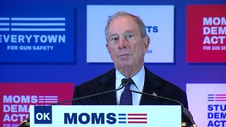 Michael Bloomberg. Moms Demand Action hold gun safety event in Tulsa