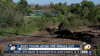 Body found after fire breaks out Santee - Video