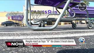 People react as Toys 'R' Us closes 3 local stores - Video