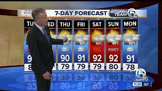 Latest Weather Forecast 11 p.m. Monday