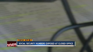 Social security numbers left exposed at local office during government shutdown