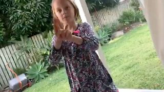 Talented Autistic Girl Uses Sign Language To Sing Along To Song - Video