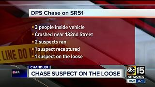 DPS searching for suspect after pursuit ends on SR-51 - Video