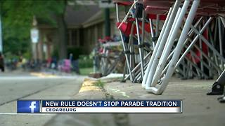 Cedarburg prepares for 4th of July Parade amid new ordinance - Video
