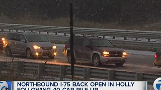 I-75 reopens following large crash - Video