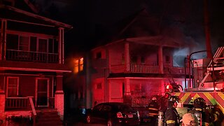 Mother and child transported from house fire