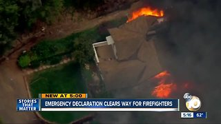 Emergency declaration clears way for firefighters