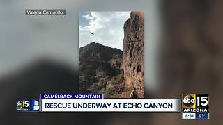 Man rescued from Camelback Mountain Saturday morning