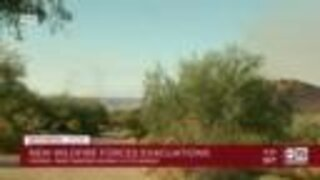 Wildfire forces evacuations in north Phoenix