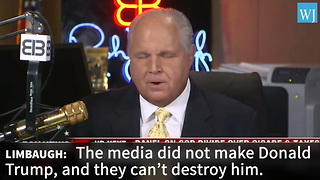 Rush Limbaugh Skewers The Media With Blistering Precision 'Media Didn't Make Trump And They...' - Video