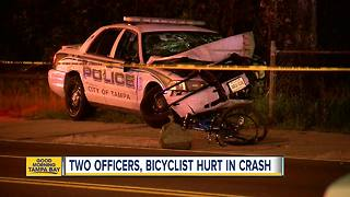 2 Tampa Police officers injured in crash - Video