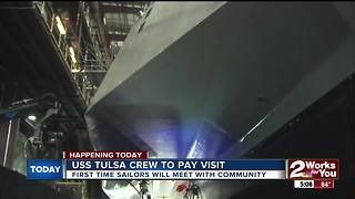 USS Tulsa crew in city this week - Video