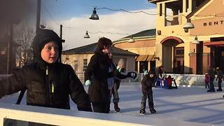 Kids Ice Skate For The First Time - Video