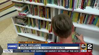 Potomac 14-year-old donates 2,000 books to homeless shelter - Video