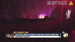 Bodycam video of deputy rescuing people from Sonoma fire - Video