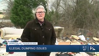 Tulsa business owner frustrated by unsightly dumping ground