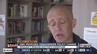 DMV proposes transgender policy change - Video