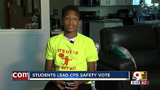 Students lead Cincinnati Public Schools pedestrian safety vote