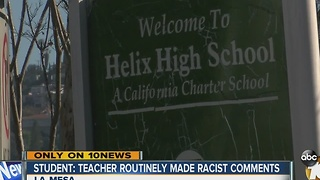 Student: teacher routinely made racist comments - Video