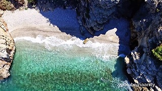 Stunning drone footage of beaches near Athens, Greece