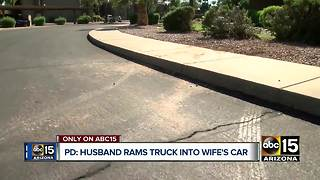 Scottsdale man accused of ramming car into wife's car repeatedly - Video