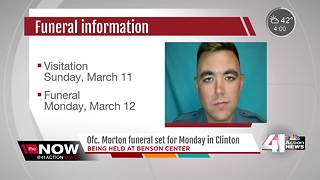 Funeral services set for fallen Clinton officer - Video