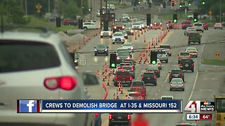 Drivers prep for worst with Missouri 152 bridge over I-35 set for demolition