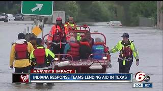 Indiana response teams lending aid in Texas - Video