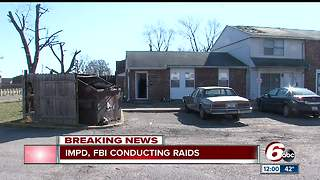 IMPD, FBI conducting multiple raids across Indianapolis - Video