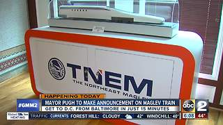 Mayor Pugh making announcement on Maglev train progress - Video