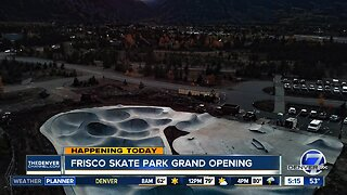 Frisco skate park grand opening tonight