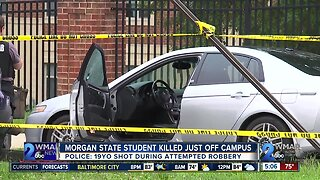 Morgan State student killed off campus on Thursday