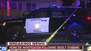 Homicide investigation following deadly stabbing - Video