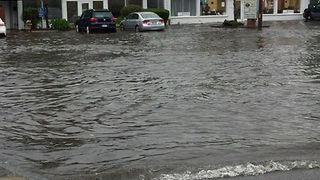 Heavy Rain Triggers Flash Flooding Across Cape Cod - Video