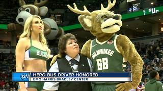 Bucks honor Milwaukee County bus driver for saving missing child - Video