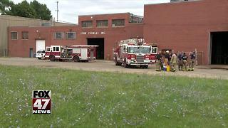 Fire at Industrial Site in Jackson - Video