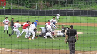 Ex-MLB Pitcher Sparks Massive Bench-Clearing Brawl in Indie League Game - Video